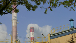 Coal power plant. Air pollution Footage