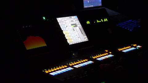 Work Place Sound Engineer Mixing Console HD Live Action