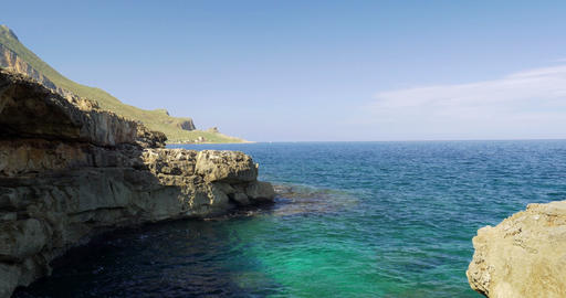4K, Coastal Line, Sicily, Italy lizenzfreie Videos