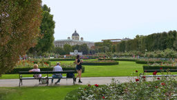 The Volksgarten Park, Austria, Europe stock footage