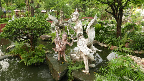 Himmapan garden creatures, adult Thep Kinnaree and juvenile Kinnara Live Action