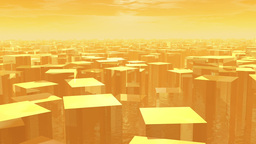 Ghost Town Cg Animation 03 stock footage