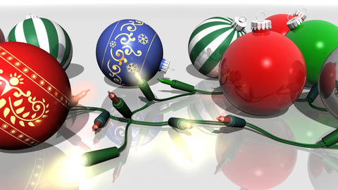 Christmas Ornaments Horizontal Loop Animation