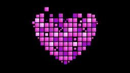 Geometric purple heart symbol animated background Animation