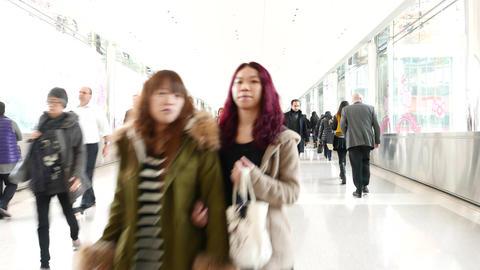 Office building corridor, office employee walking in passageway Live Action
