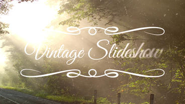 Vintage Slideshow stock footage