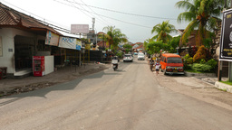 Mixed Traffic Mess, Road Intersection, Balinese Street stock footage