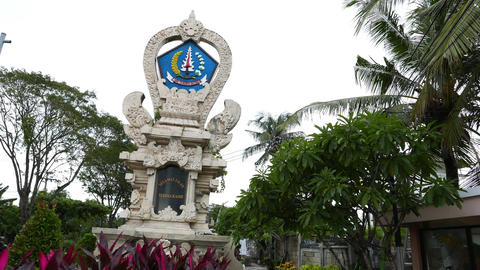 Balinese Administrative Sign, Richly Adorned Stela, Terima Kasih Area stock footage