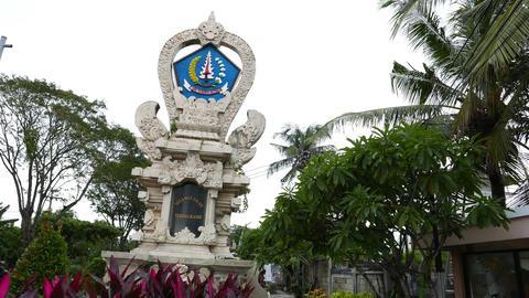 Balinese administrative sign, richly adorned stela, Terima Kasih area Footage