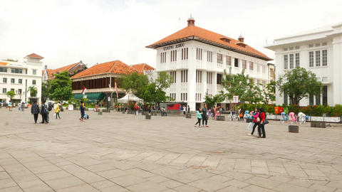 Approach Gedoeng Jasindo meeting hall building, Taman Fatahilah Footage