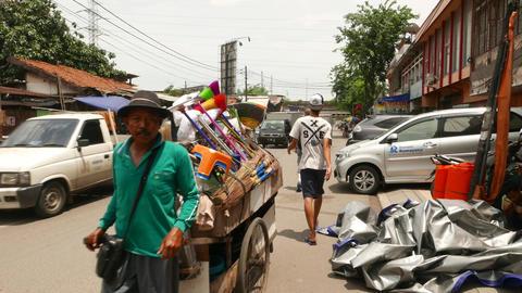 Kota Tua, walk along Jalan Cengkeh, old low rise district Footage