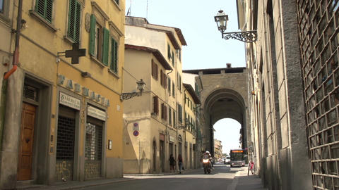 Street view at Porta San Frediano Footage