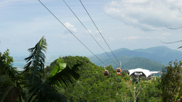 View from under Top station, to middle station, Langkawi SkyCab Live Action