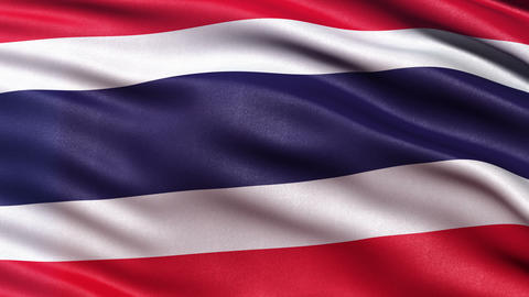 4K Thailand flag seamless loop Ultra-HD Animation