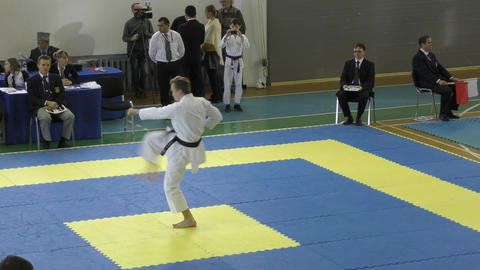 Boys compete in karate Live Action