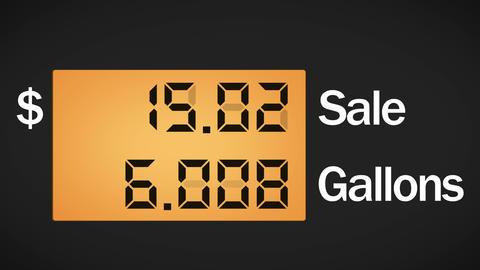 Fuel station pump display, 4K Animation