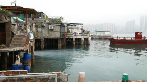 old fisherman village, Lei Yue Mun and Sam Ka Tsuen Typhoon Shelter Footage