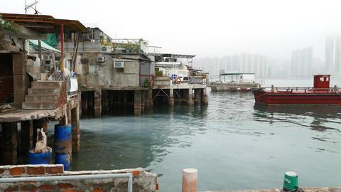 old fisherman village, Lei Yue Mun and Sam Ka Tsuen Typhoon Shelter Footage