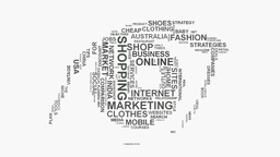 Eye on Mobile business and online media marketing word cloud text typography Footage