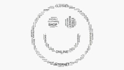 Smiley face Online Business Marketing and Shopping word cloud text typography Footage