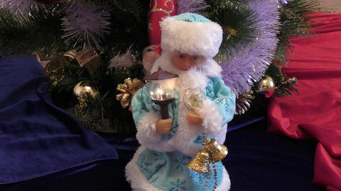 Snow Maiden at Christmas trees Footage