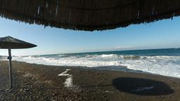 koulombus beach on santorini Footage