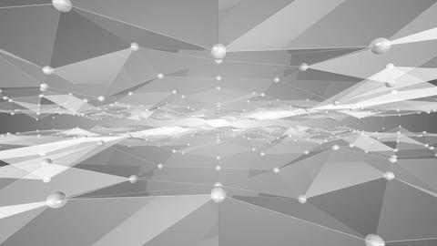 polygon wave BW 4 K Animation