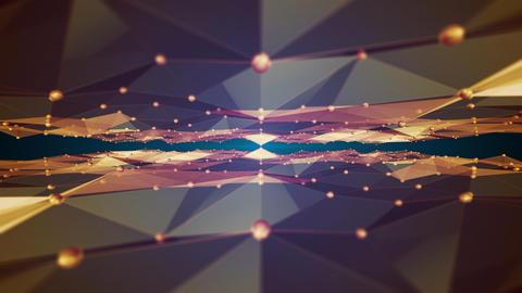 polygon wave loop 4 K Animation