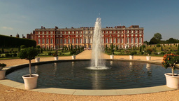 Hampton Court Palace and Fountain on a Sunny Day Live Action