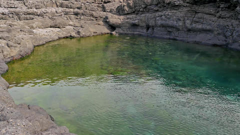 Natural pool in Buracona in Sal Island Cape Verde - Cabo Verde Footage