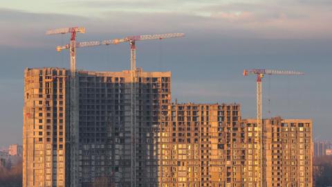 Skyscraper construction timelapse Footage