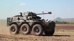 Saracen Armoured Car stock footage