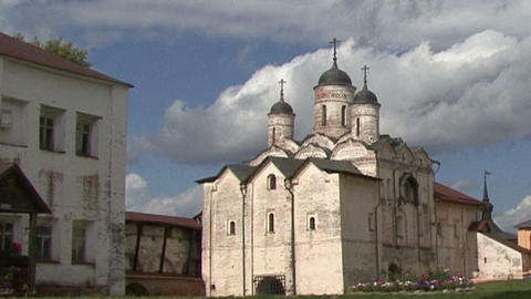 Orthodox Monastery Kirillov stock footage