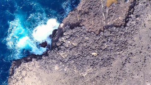 Aerial view of Buracona in Sal Island Cape Verde - Cabo Verde Footage