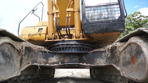 Run Over by an Excavator Stock Video Footage