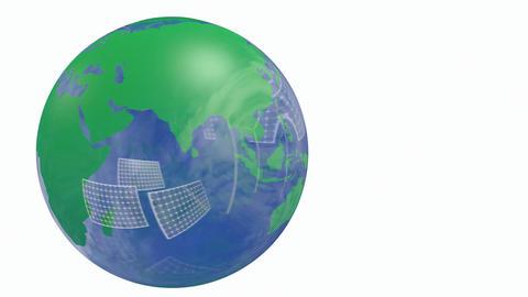 Renewable energy Earth globe Stock Video Footage