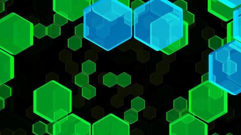 Hexagon 2 Bb 2 HD Stock Video Footage