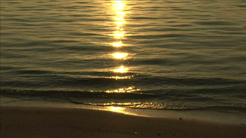 Sunlight shining on the sea Stock Video Footage