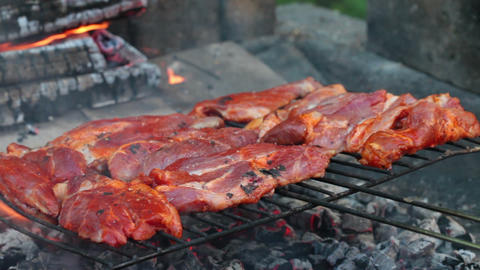 Barbecue Meat Stock Video Footage