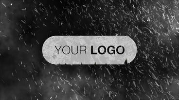 Snow Storm Logo Intro stock footage