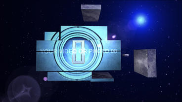 Space mosaic After Effects Template