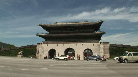 Gyeongbokgung Palace Stock Video Footage