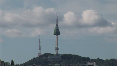 N Seoul Tower Stock Video Footage