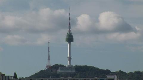 N Seoul Tower Stock Video Footage