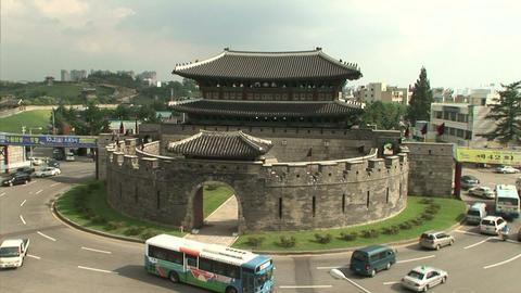 Suwon Hwaseong Fortress Stock Video Footage