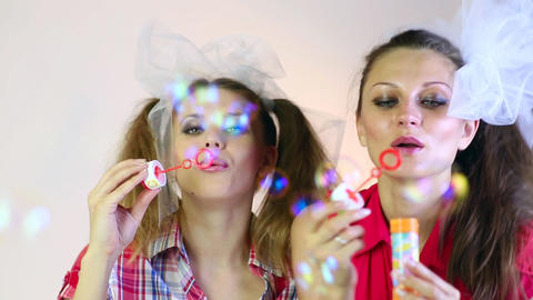 Soap bubbles Stock Video Footage