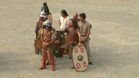 gaul warrior 01 Stock Video Footage