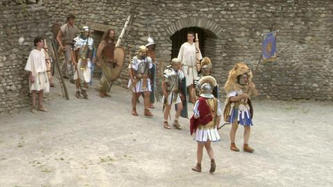roman gaul arena 01 Stock Video Footage