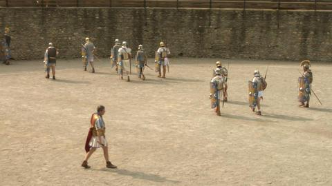 roman gaul arena 05 Stock Video Footage