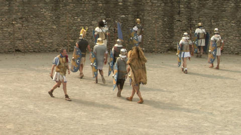 roman gaul arena 07 Stock Video Footage